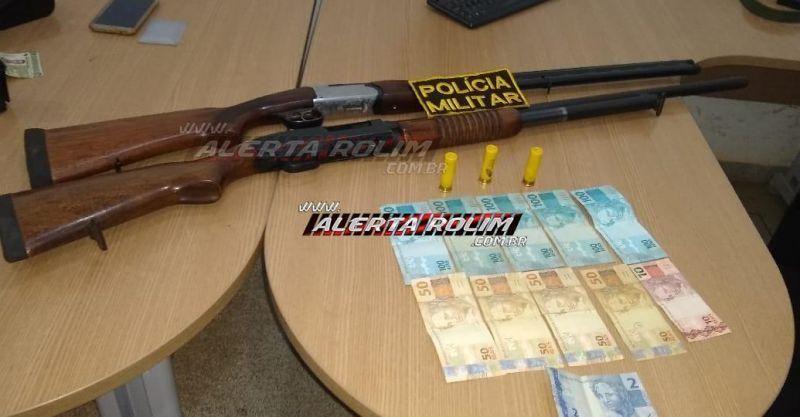 Homem é preso com duas armas de fogo e munições na zona rural de Rolim de Moura