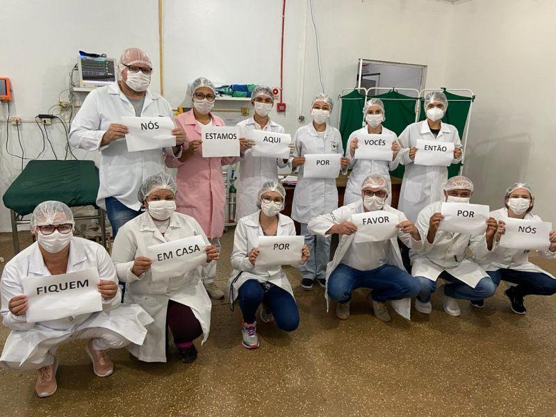 Equipe do Hospital Municipal de Rolim de Moura pede