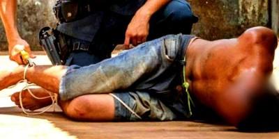 Ladrão cai do telhado durante roubo a residência e é amarrado pela vítima em Porto...