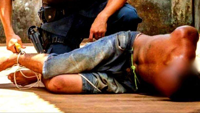 Ladrão cai do telhado durante roubo a residência e é amarrado pela vítima em Porto Velho