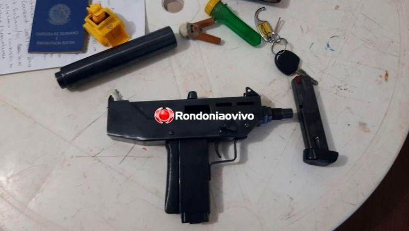 Polícia prende dupla com quase cinco quilos de droga e portando metralhadora