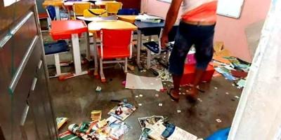 Bandidos invadem escola em Porto Velho e levam toda a merenda e vários objetos