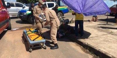 Acidente deixa casal gravemente ferido em Ji-Paraná