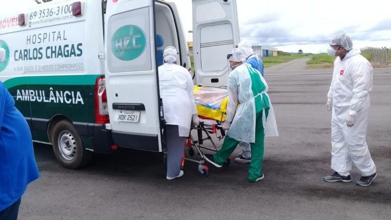 Paciente com coronavírus de Ariquemes é transferido para São Paulo