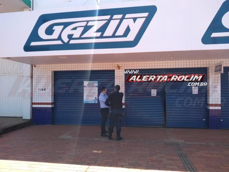 Bandidos tentam roubar lojas Gazin da Cidade Alta em Rolim de Moura