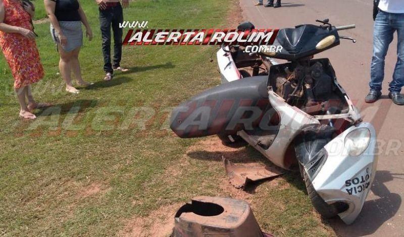 Motociclista fica ferido ao ser atingido por caminhão na RO-010, em Rolim de Moura