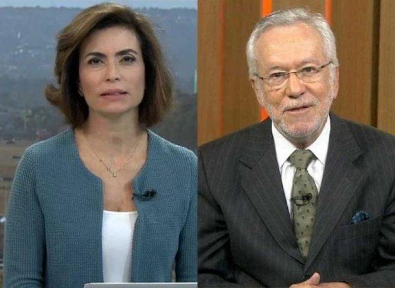 Durante intervalo na Globo, audio de Giuliana Morrone vaza com críticas a Alexandre Garcia e à Regina Duarte