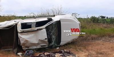 Capotamento deixa uma vítima fatal e outras três feridas na zona rural de Alta Floresta