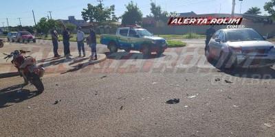 Segundo acidente na manhã desta quarta-feira em Rolim de Moura deixa motociclista ferido