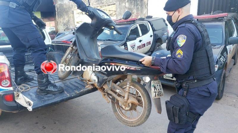 Durante fuga em dois veículos, ladrões atrapalhados colidem entre si e são presos pela PM