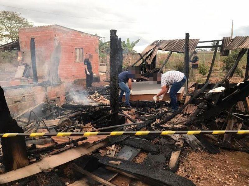 Suspeito de estuprar neta de 5 anos é encontrado carbonizado dentro de casa na zona rural de Vilhena