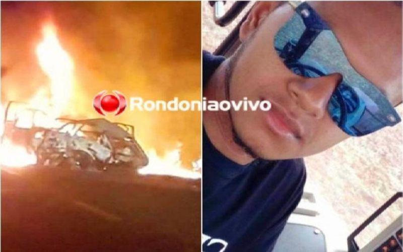 Jovem morre carbonizado após carro explodir em acidente na BR-364