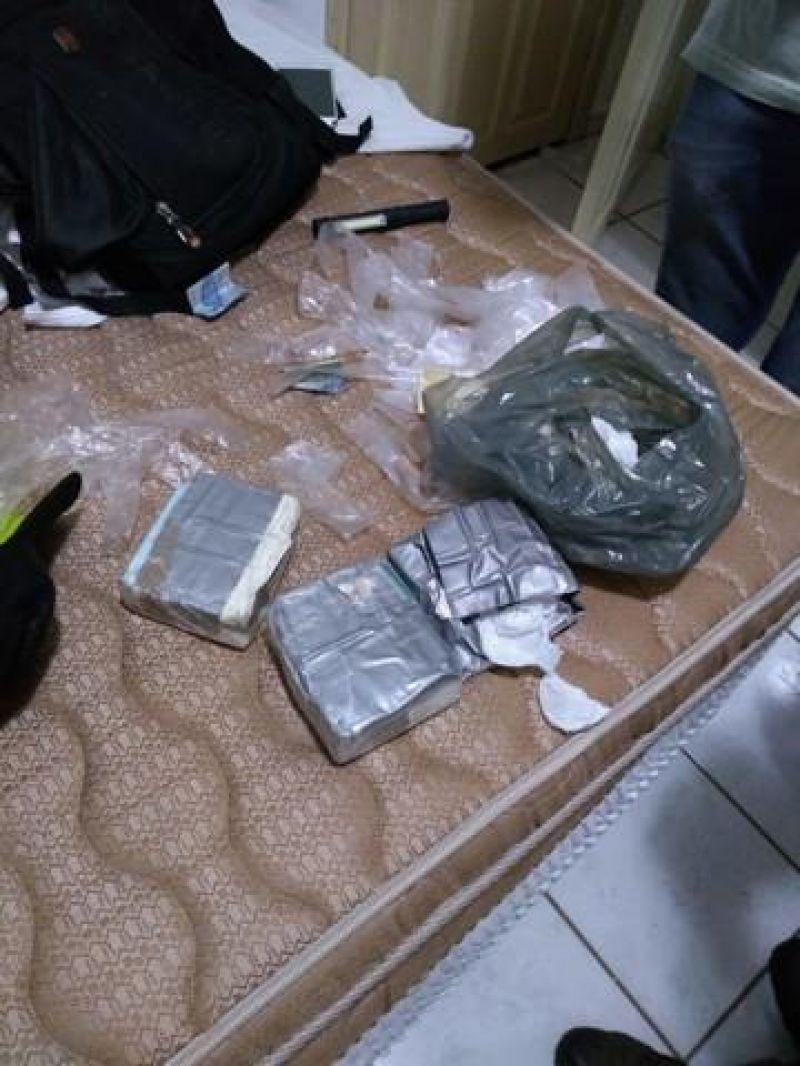Traficante de Vilhena é preso em pousada de Porto Velho com drogas