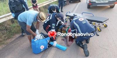 Motociclista fica em estado gravíssimo ao bater em guard rail na BR-319 em Porto Velho