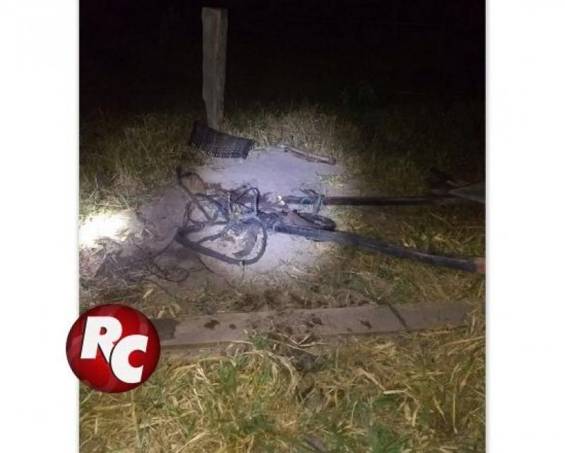 Jovem de 21 anos morre a caminho do hospital após tombar carroça na zona rural de São Francisco