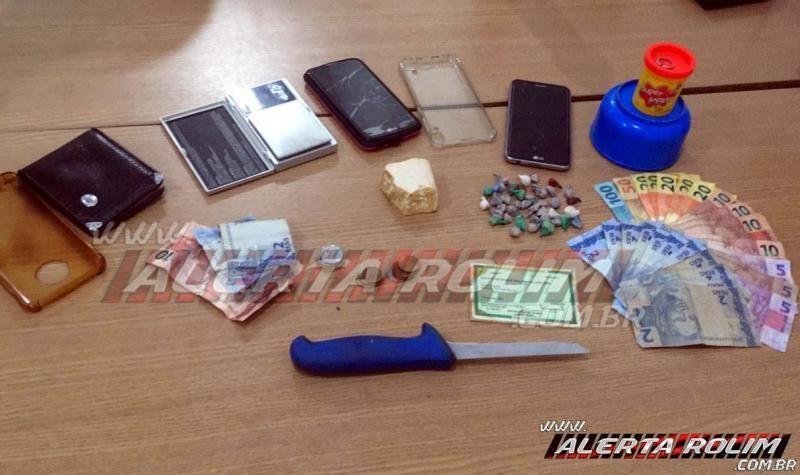 Três pessoas são presas por tráfico de drogas em Rolim de Moura e substâncias entorpecentes são apreendidas
