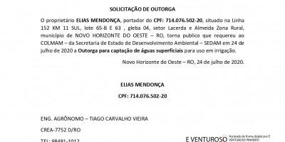 SOLICITAÇÃO DE OUTORGA - ELIAS MENDONÇA 2