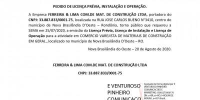 LP - LI - LO - FERREIRA & LIMA