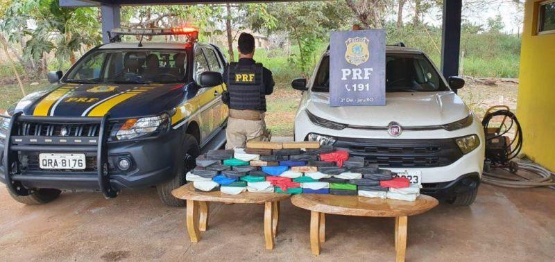 Nevou em Rondônia: PRF apreende carga de cocaína avaliada em mais de R$ 2 milhões em Jaru; veja o vídeo