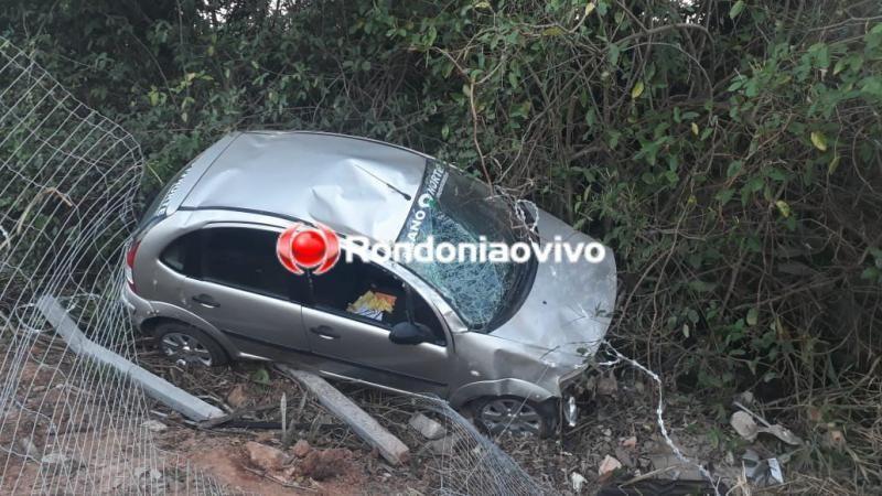 Seis pessoas saem ilesas após capotamento em Porto Velho