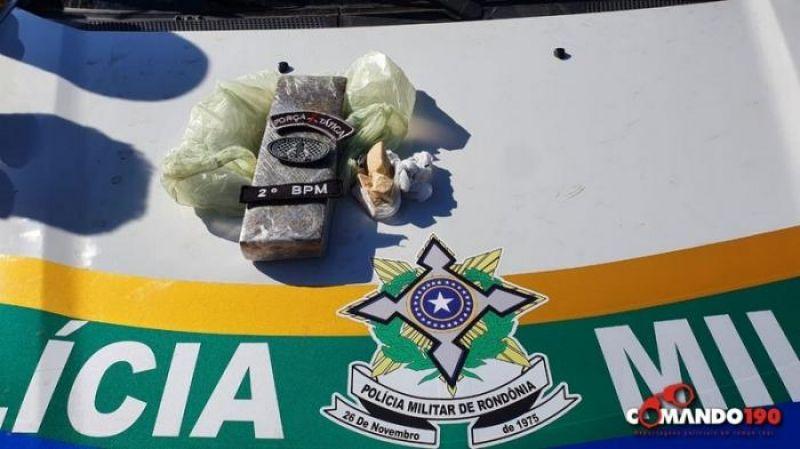 Trabalho em conjunto entre PM e PC resulta na apreensão de mais de 12 quilos de drogas em Ji-Paraná