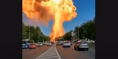 Explosão em posto de combustíveis na Rússia deixa 13 feridos; veja o vídeo