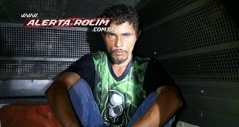 Acusado de roubo é preso pela Polícia Militar e Polícia Civil, em Rolim de Moura