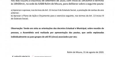 EDITAL DE CONVOCAÇÃO - AABB