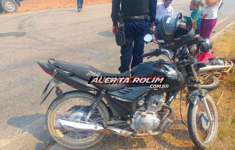Em terceiro acidente, motociclistas ficam feridos após colisão na RO-383 em Rolim de Moura