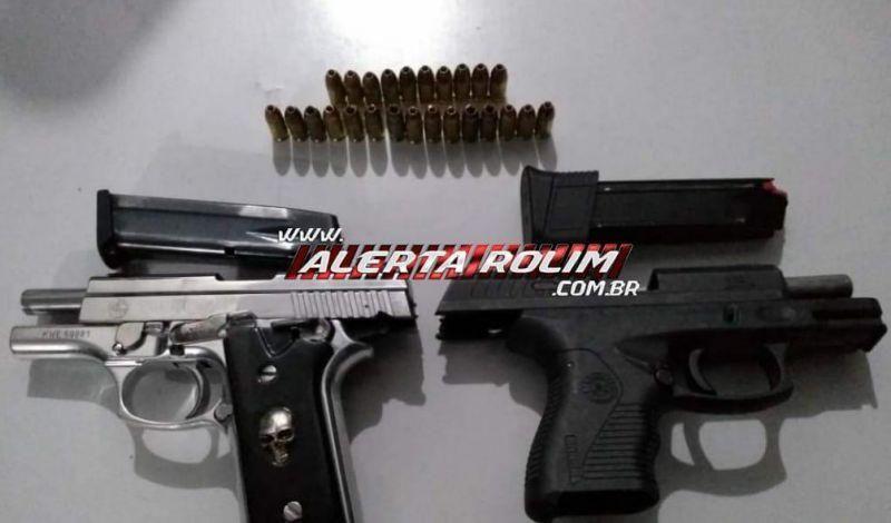 Armas e carga com madeira ilegal são apreendidos em operação da PM na zona rural de Alto Alegre