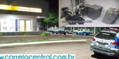 Bandidos roubam agência do Banco do Brasil em Mirante da Serra