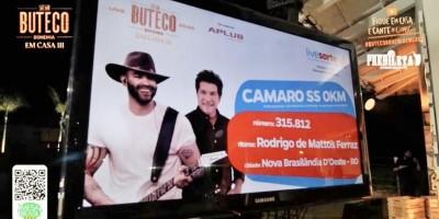 Morador de Nova Brasilândia ganha Camaro 0Km em sorteio na live de Gusttavo Lima