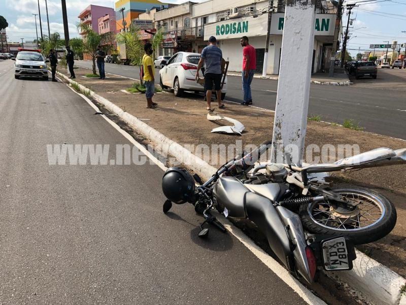 Assaltante é perseguido e atropelado pela vítima após roubo em restaurante
