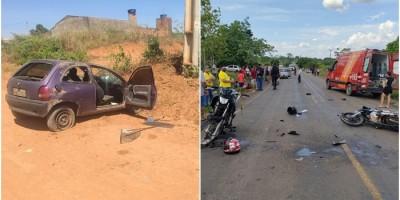 Dois acidentes graves são registrados em Jaru e 5 pessoas ficam feridas