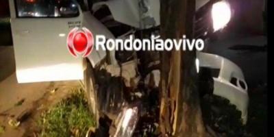 Motorista de Hilux tenta fugir da PM, atropela ciclista e bate contra árvore