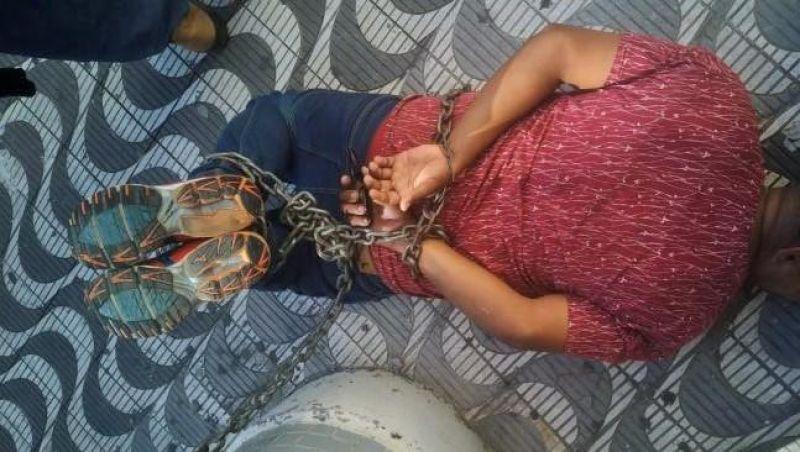 Porto Velho: Homem inconsciente é encontrado acorrentado e terá que amputar os dois braços