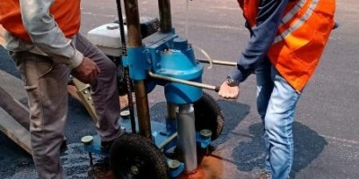 DER realiza testes de espessura e qualidade na maior obra de pavimentação asfáltica...