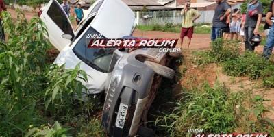Condutor trafega na contramão e bate contra outro veículo no bairro Planalto, em Rolim...