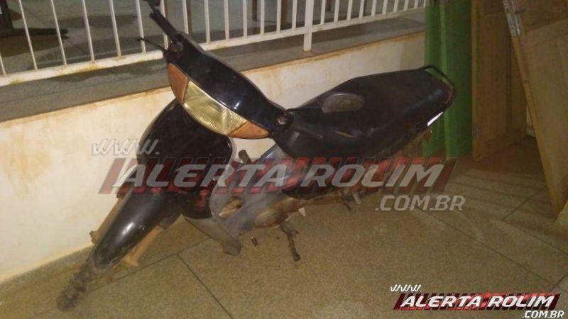 Polícia Militar recupera Biz furtada no sábado em Rolim de Moura
