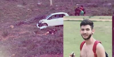 Jovem morre após ser arremessado de carro durante capotamento na zona rural de...