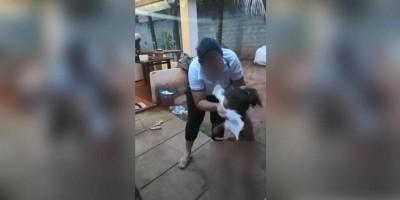 Mãe é presa após ser filmada agredindo filha de 1 ano e esfregando fralda suja no...