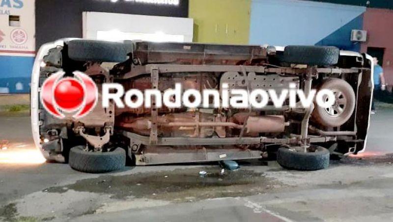 Hilux capota após motorista avançar preferencial em Porto Velho; Veja o vídeo
