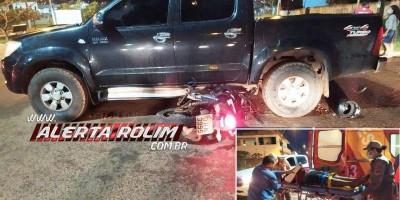 Motociclista fratura braço em acidente na noite de sexta-feira (23) em Rolim de Moura