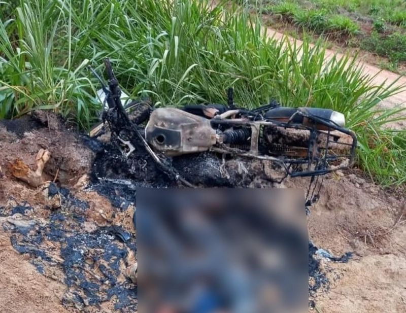 Corpo é encontrado carbonizado na zona rural de Nova Mamoré