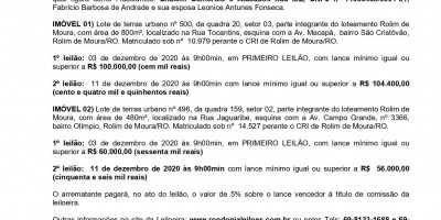 EDITAL DE LEILÃO DE ALIENAÇÃO FIDUCIÁRIA