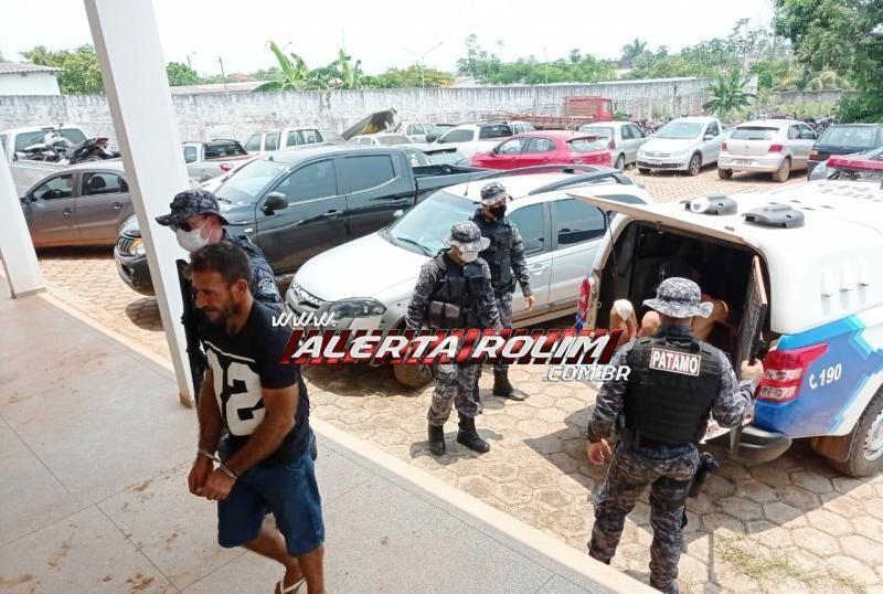 Dois suspeitos de tráfico de drogas são presos pela PM e PC em Rolim de Moura