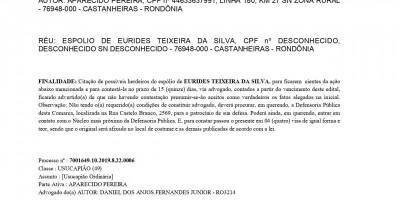 EDITAL DE INTIMAÇÃO TERCEIROS INTERESSADOS
