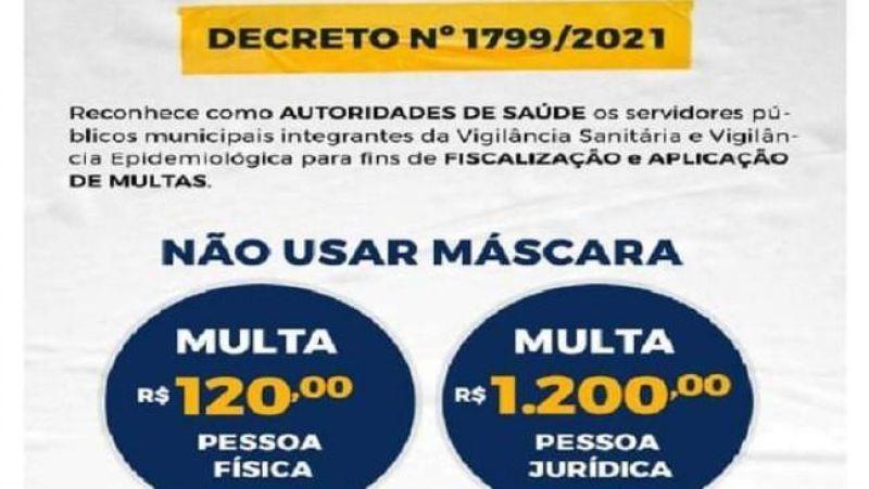 Imagem que circula nas redes sociais sobre decreto que permite aplicação de multa é FALSO
