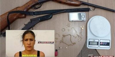 Mulher monitorada por tornozeleira é presa com armas de fogo durante trabalho conjunto...