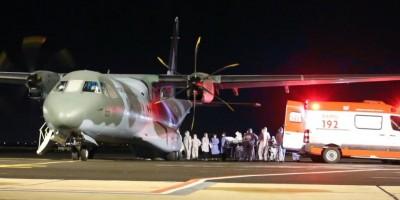 Nove pacientes com Covid-19 vindos de Rondônia chegam para internação no Rio Grande do...